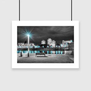 plakat miasto nocą na ścianę
