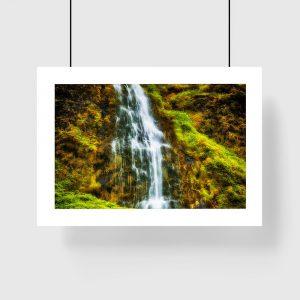 plakat wodospad Islandii