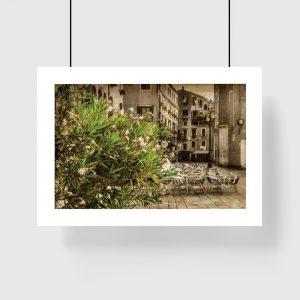 plakat z krajobrazem miasta na ścianę