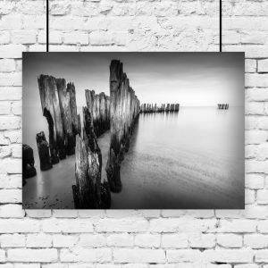 plakat morze i skały na ścianę