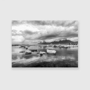 Obraz lodowce na jeziorze