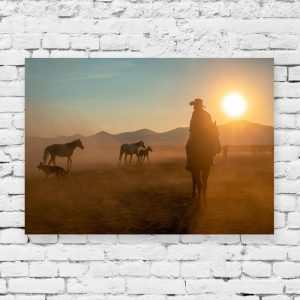 Obraz z motywem stada koni
