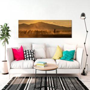 Obraz góry i konie