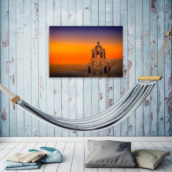 Obraz dzwonnica Santorini
