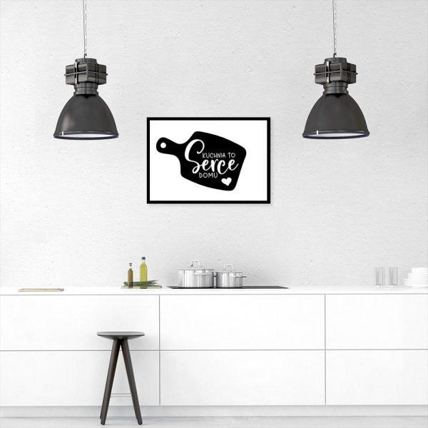 Plakat kuchnia to serce domu