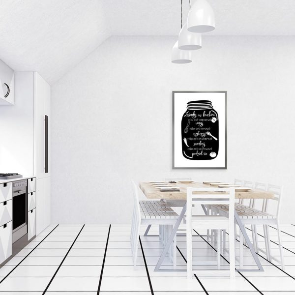 Plakat z zasadami w kuchni
