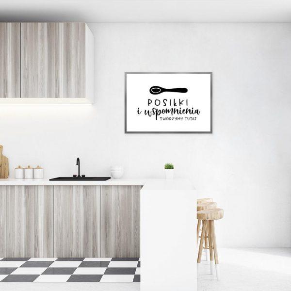 Plakat z ilustracją łyżki