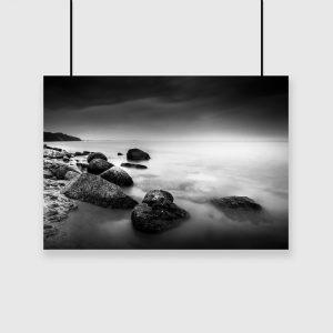 plakat kamienie nad brzegiem morza na ścianę