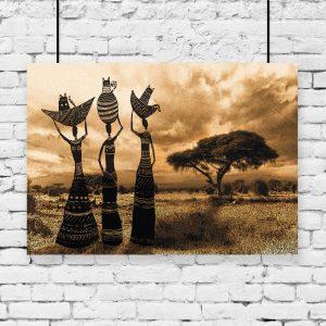 plakat afrykańskie kobiety na ścianę