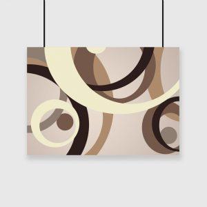 plakat abstrakcyjne koła na ścianę