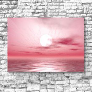 plakat delikatny zachód słońca na ścianę