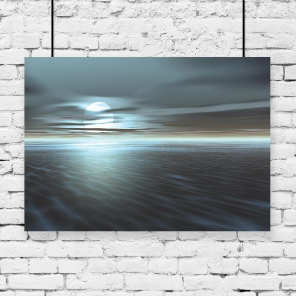 plakat z morzem na ścianę