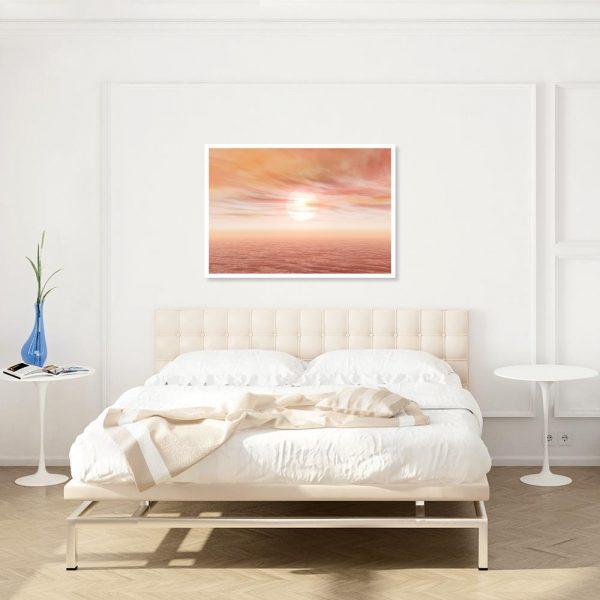 plakat z morzem nad łóżko