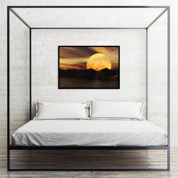 plakat w morskim klimacie nad łóżko