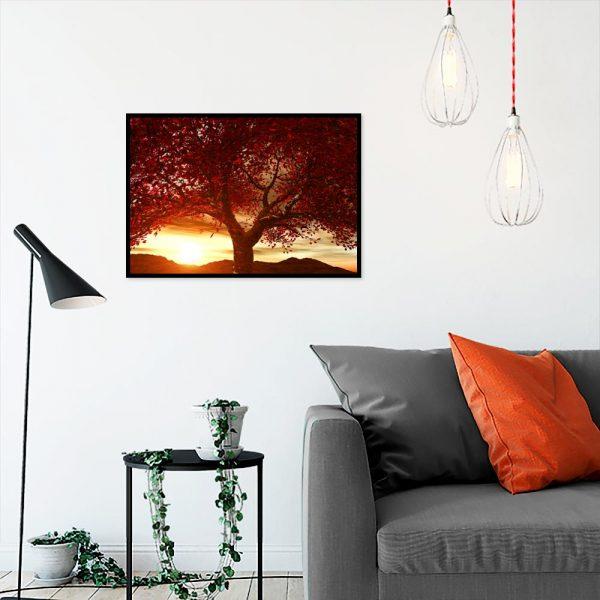 plakaty na ścianę z jesiennym drzewem
