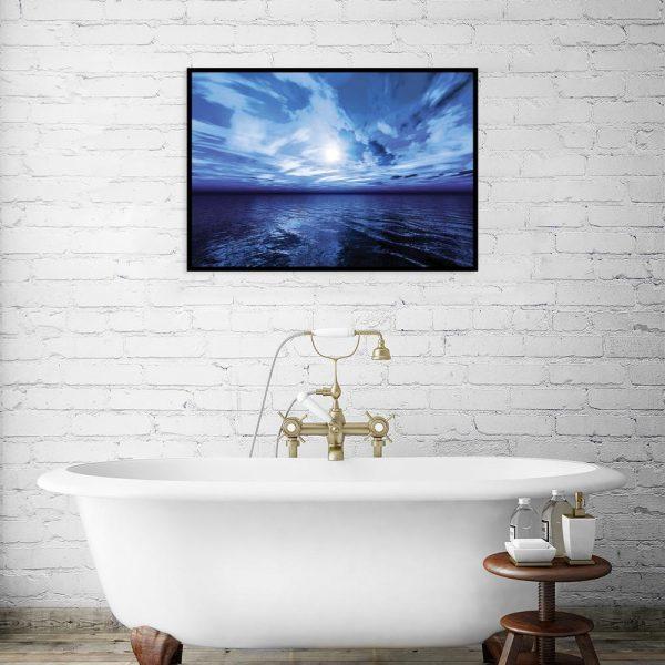 plakat z morskim widokiem na ścianę