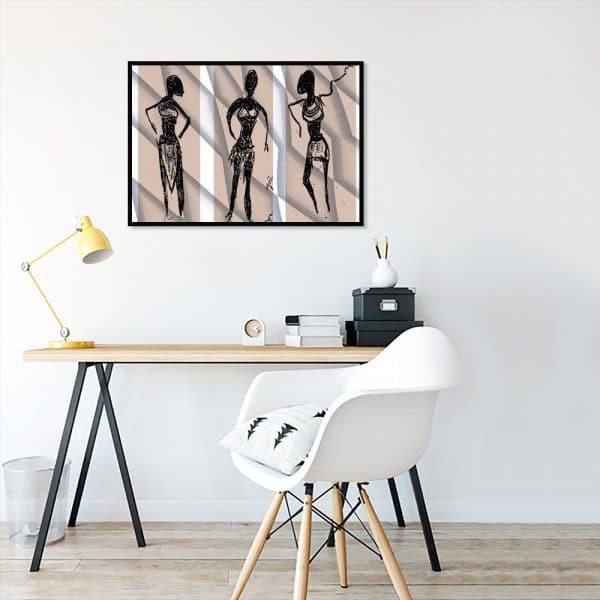 plakat z wizerunkiem kobiet