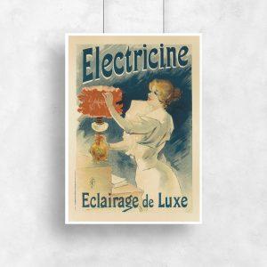 plakat w stylu retro z postacią kobiety
