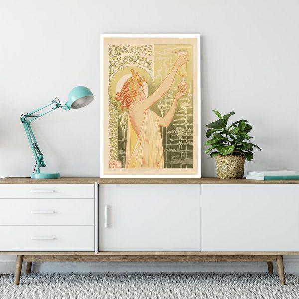 plakat ruda kobieta z kielichem