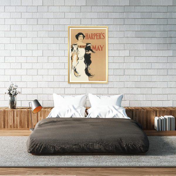 plakat vintage do powieszenia nad łóżko