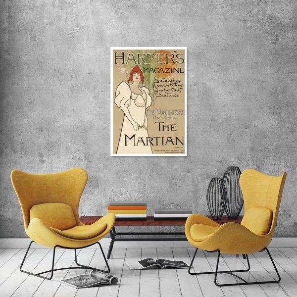 plakat vintage magazyn
