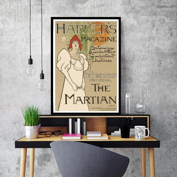 plakat z kobietą w stylu vintage