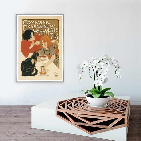 plakat vintage z napisami
