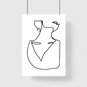 minimalistyczny plakat szkic kobiety