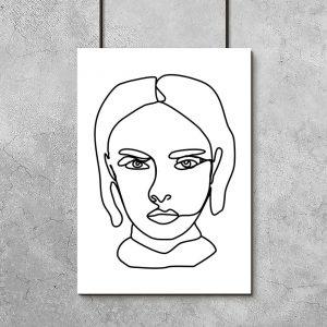minimalistyczny plakat kobiety