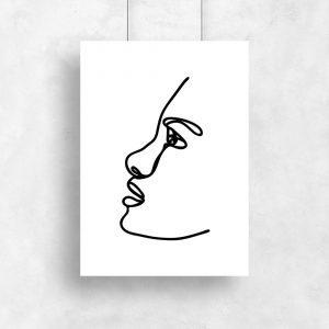 plakat w minimalistycznym stylu