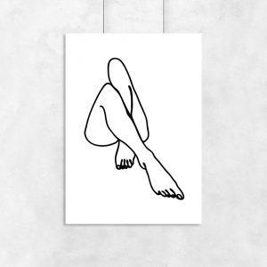 minimalistyczny plakat kobiecych nóg
