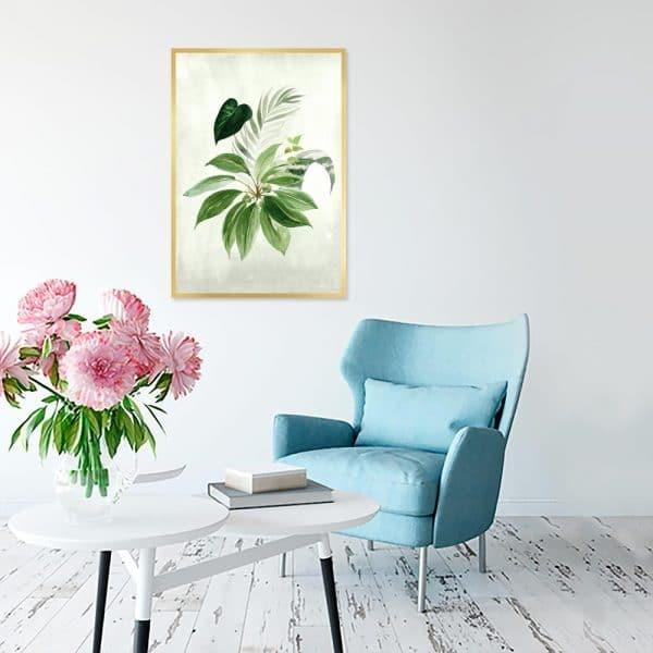 zielony plakat z liśćmi