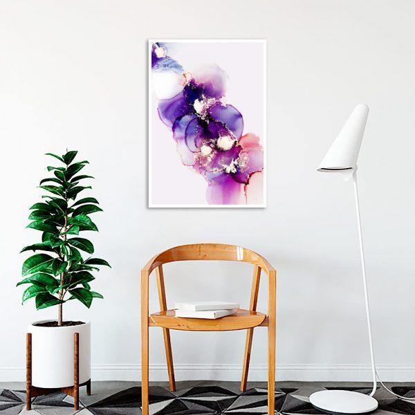 plakat z wzorem abstrakcyjnych plam