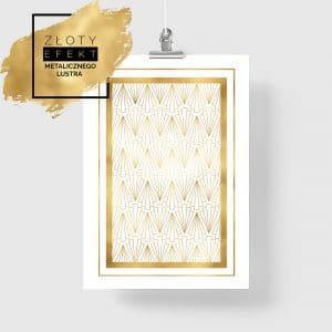 Plakat z motywem złotych wzorów