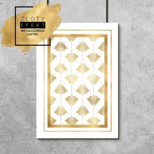 Plakat złote liście