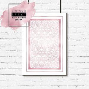 Plakat geometryczny w kolorze różowego złota