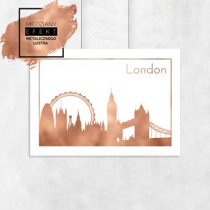 Plakat metaliczny londyn