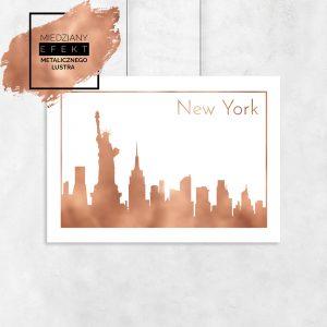 Plakat miedziany z zabytkami Nowego Jorku