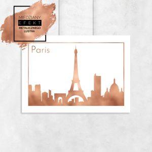 Plakat metaliczny z miastem