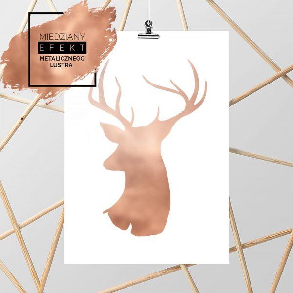 Plakat miedziany z motywem jelenia