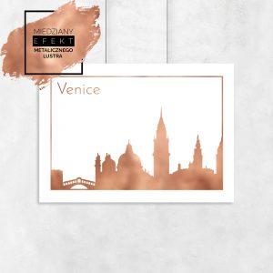 Plakat miedziany z Wenecją
