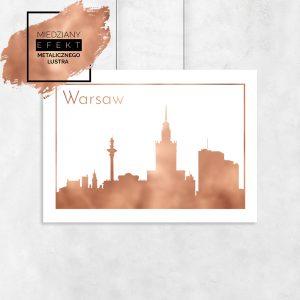 Miedziany plakat Warszawa
