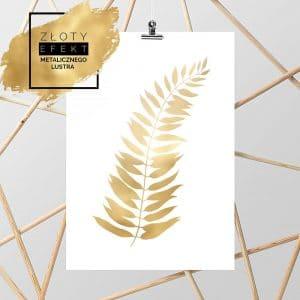 Plakat złoty liść