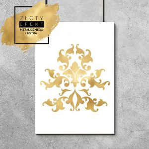 Plakat glamour w kolorze złota