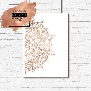 Plakat lustrzany z mandalą
