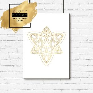 Plakat metaliczny ze wzorem kwiatu