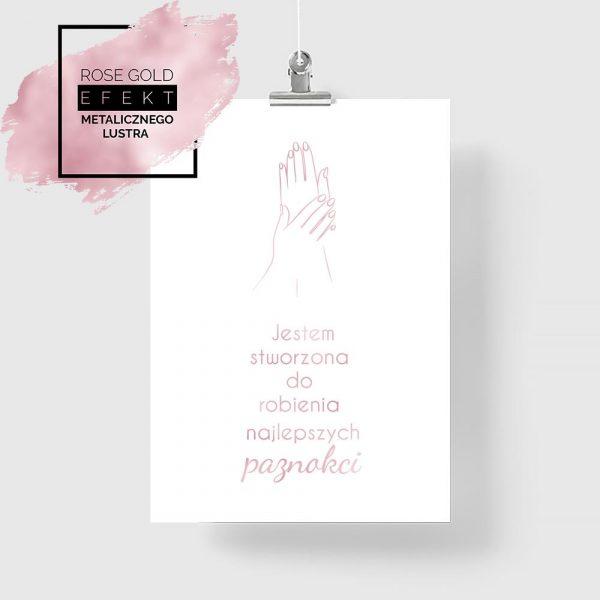 Plakat rose gold manicure