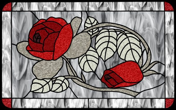 Witraż samoprzylepny róże