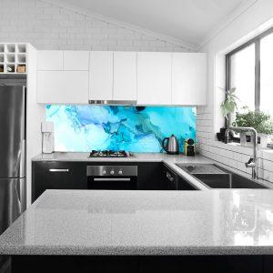 fototapeta kuchenna niebieska abstrakcja