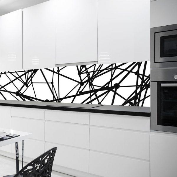 fototapeta czarno-biała z abstrakcją